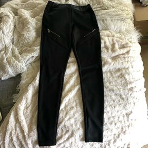 Express Faux Leather Moto Leggings with Zippers